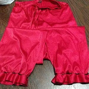 Victoria secret red satin ruffle Lounge pants S/P